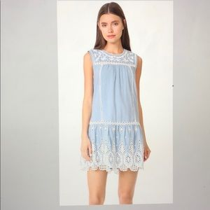 JOIE josune embroidered cotton baby doll dress
